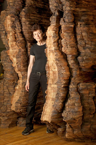 <p>Ursula von Rydingsvard is an artist and sculptor working mostly in cedar wood, says Duchaine.</p>