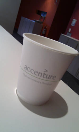 <p>Global consulting firm Accenture has had almost more name changes than Elizabeth Taylor had marriages. Originally the consulting arm of accountancy firm Arthur Andersen, it became Accenture on January 1, 2001, and avoided the taint of Enron, which eventually led to the dissolution of Arthur Anderson. And the new name fits better on the water cups.</p>