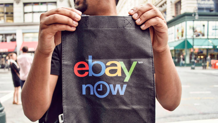 <p>An eBay Now tote bag used for smaller purchases.</p>
