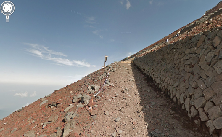 <p>Google created some 14,000 panoramas on the way up the mountain including a full walk around the famously symmetrical crater at the mountaintop.</p>