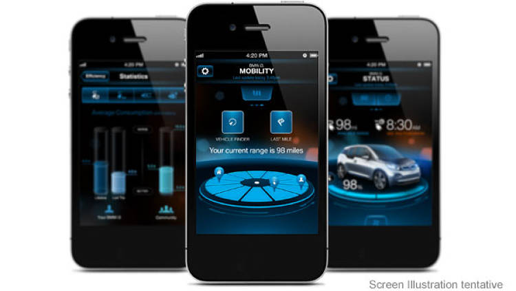 <p>The app sends updates on the car's charge level and vehicle location, as well as service messages. Owners can also use the app to end charging remotely.</p>