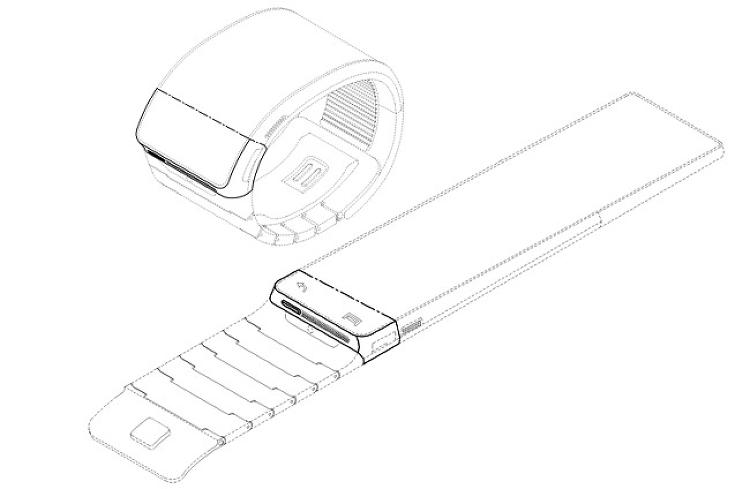 <p>The patents describe a device that wraps around the user's wrist and has a conformal screen which may or may not be flexible. The screen appears to have touch controls for simple menu navigation, and a physical power button that may be accompanied by a loudspeaker--the wristband may also include a microphone.</p>