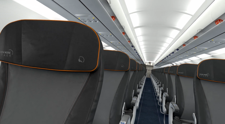 <p>JetBlue has a new interior design for cross-country flights.</p>