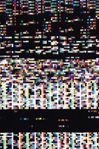 <p>But as it happens, some data is more visually appealing than other data. So Stearns curated it, weaving tapestries from only the more interesting snippets.</p>