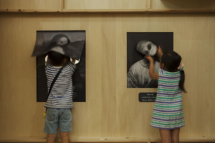 <p>Kids rotate the heads or features of portrait subjects, or even insert themselves into the paintings.</p>