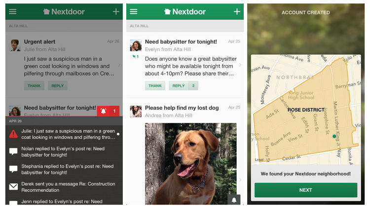 <p>Nextdoor is a social network with your neighbors. If you can stand your neighbors, it's a pretty novel idea. Maybe your cat's gone missing, or you have a question about trash pickup. Instead of spying on your neighbor before initiating an awkward conversation, you can just make a post.</p>