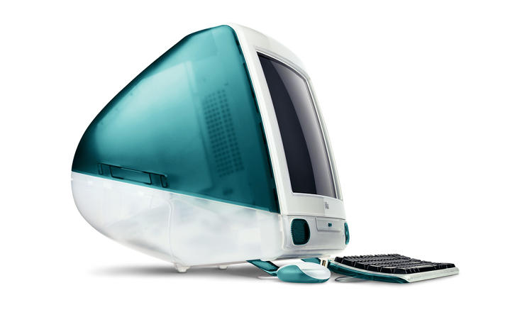 <p>The original iMac G3 in signature Bondi blue.</p>