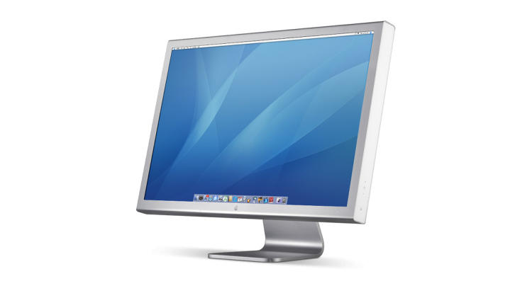 <p>Designed to compliment the previous Power Mac G5 and PowerBook G4, the 2004 Cinema Display continued the flattening out with a wide screen display and minimal bezels.</p>