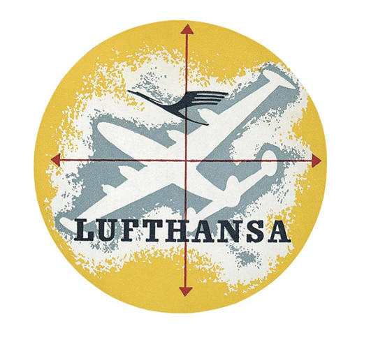 <p>Lufthansa's winged crane logo has been around since 1926.</p>