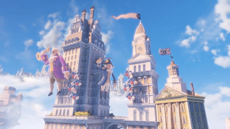 <p>Kelly trawled through a dozen or so of the best video games of the last five years to pinch footage for his series.</p>  <p>Above: &quot;Columbia&quot; from <em>BioShock Infinite</em> (2013)</p>