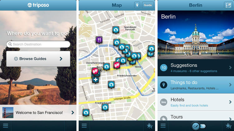 <p>Triposo is a full service travel app littered with options for nightlife, major sites, and restaurants. As a bonus, the app includes weather information and currency calculator.</p>  <p>Oh, and if you think it's silly to download a travel app for your own city, think again. It's not--you'll be surprised at what your missing.</p>