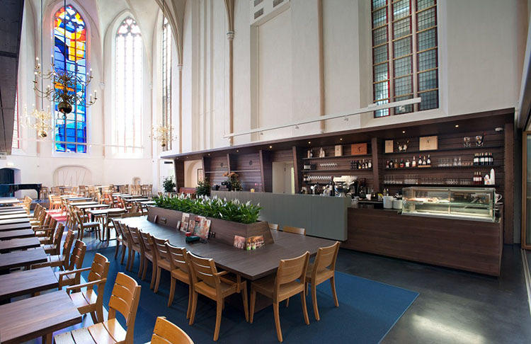 <p>Designed by Utrecht-based BK Architecten, the shop is located within the halls of the Broerenkerk, a Gothic cathedral that towers above the small Dutch town of Zwolle.</p>