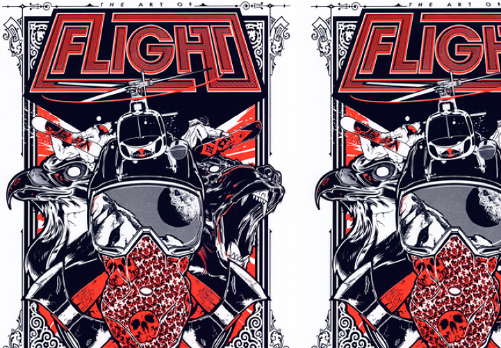 <p>Graphic artist Hydro74's version of The Art of Flight poster</p>