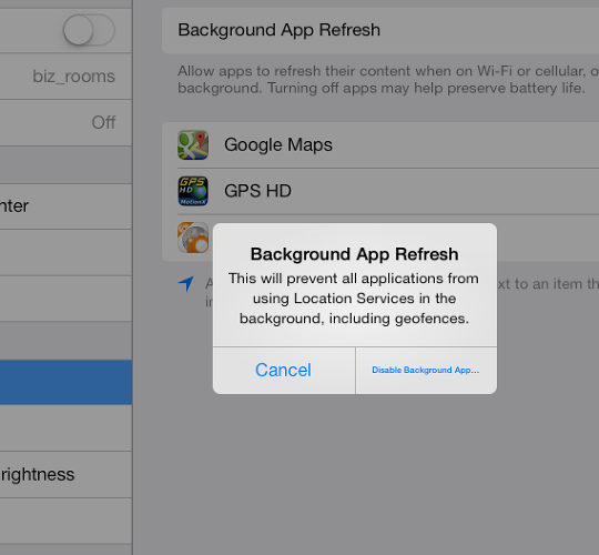<p>Is there more text after &quot;Disable Background App&quot;?</p>