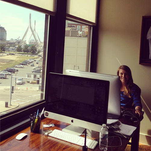<p>An employee takes in her new office--formerly belonging to CTP Cofounder and President Fred Conover.</p>