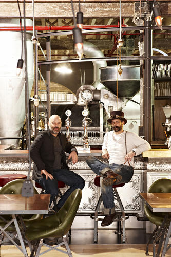 <p>It makes perfect sense: a steampunk-themed luxe coffee shop.</p>