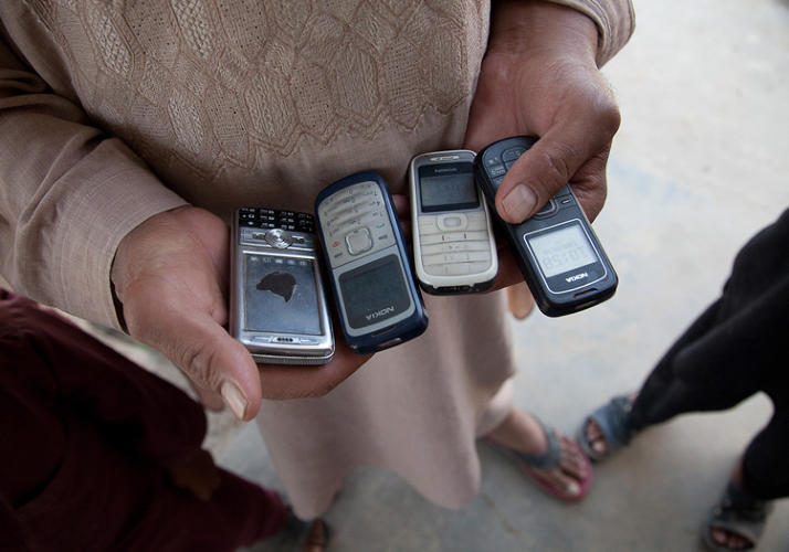 <p>TELEPHONE TREE: &quot;These four mobile phones are all active and are all owned by one person, and he carries all of them on him. In Afghanistan, if you want to be polite, you get one phone for each of the operators that your friends are using, so when they call, their costs are lower.&quot;</p>