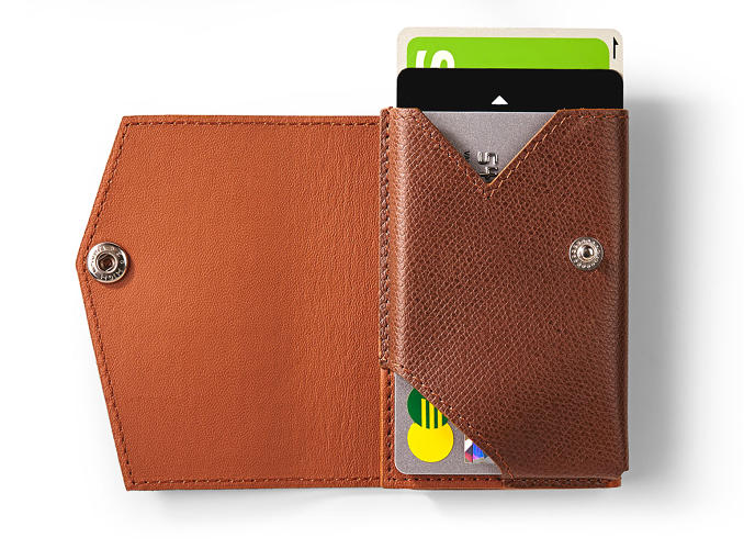 <p>The Evernote Slim Wallet opened up.</p>