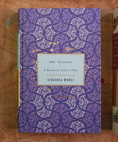 <p>Cover to Virginia Woolf's <em>Mrs. Dalloway</em> and <em>A Room Of One's Own</em></p>