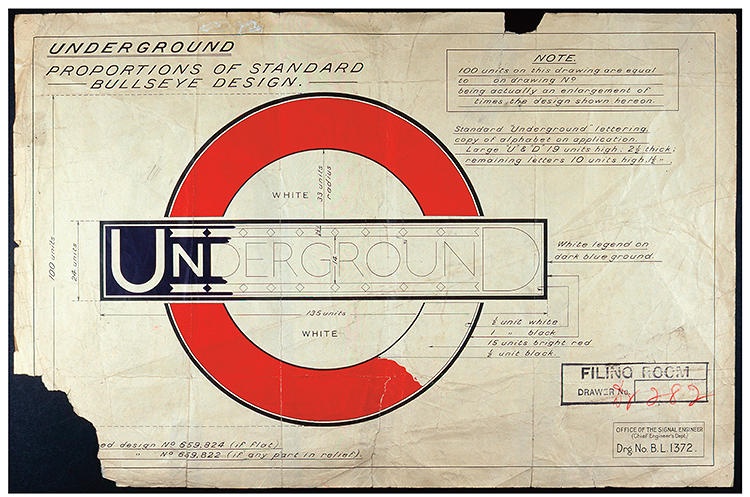 <p>The design of the London Underground Roundel has remained virtually unchanged since 1908.</p>