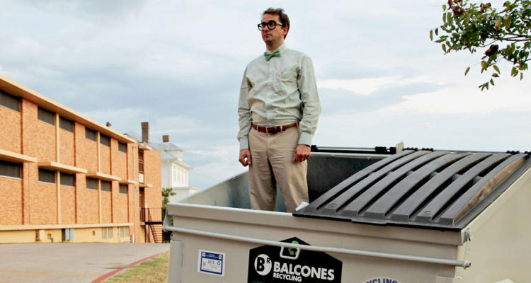 "<p>Two years ago, environmental science professor Jeff Wilson was sitting at a Starbucks, revising a journal article, when he had what he calls a moment of clarity. ""I looked out the window into the parking lot and saw an eight-yard dumpster and had some sort of strange flash that I was definitely moving into a dumpster,"" he says.</p>"