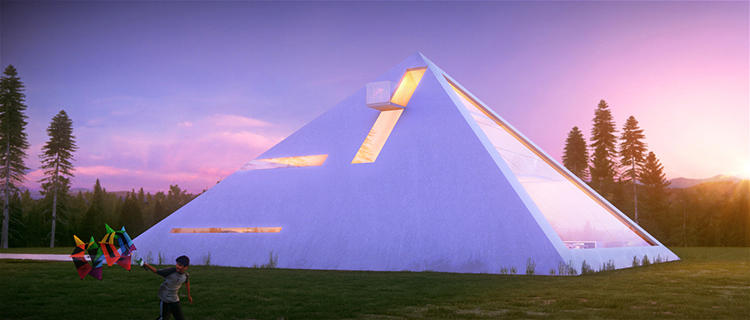 <p>Who would think to employ the iconic form for a private home?</p>