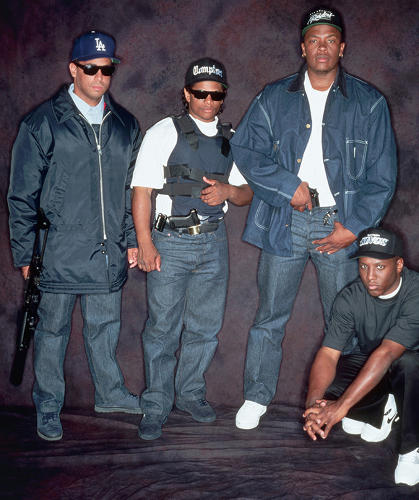 <p>NWA's matching denim duds in 1988.</p>