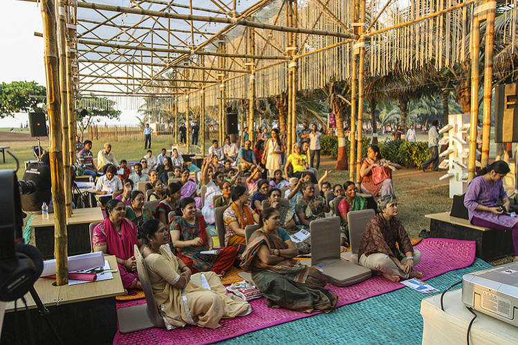 <p>Fresh and Local: Studies show that women in Mumbai face a severe shortage of private space. Lab participants explored how pop-up gardens could fill this gap, and helped develop a workable model that caters to the specific needs of communities throughout the city.</p>