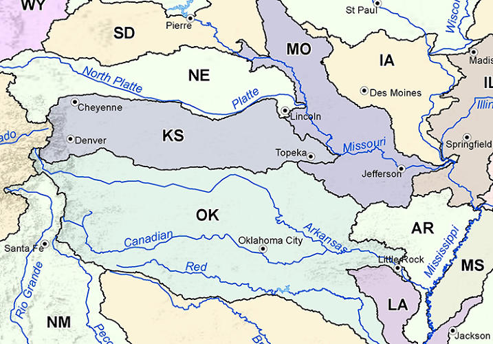 <p>Powell's map of Western 'watershed states' is very different that what we have today.</p>