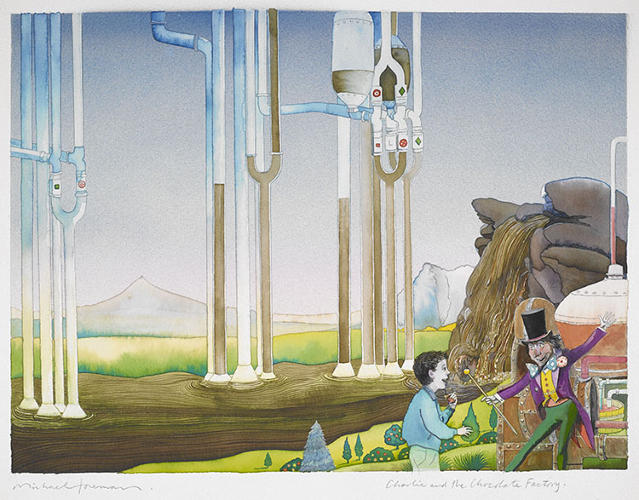 <p>Sometimes even more than the written stories themselves, it's the detail and enchantment of the illustrations that transport children into imaginary lands. Illustrations from <em>Charlie and the Chocolate Factory</em> by Roald Dahl.</p>