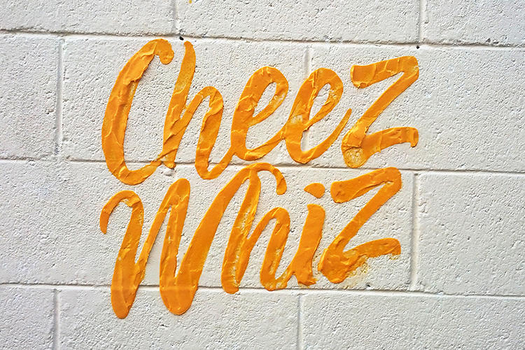 <p>Cheez Whiz does what it says on the tin in the street art of Dorota Pankowska.</p>