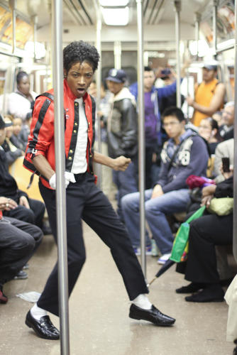 <p>A creepily convincing Michael Jackson impersonator. (AP Photo/Humans of New York, Brandon Stanton)</p>