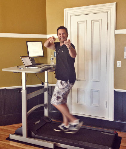 <p>While Jeff McPherson, director of agency development at SilverTech, was training for the Boston Marathon Jimmy Fund Walk, he worked from the treadmill desk almost exclusively for a couple weeks.</p>