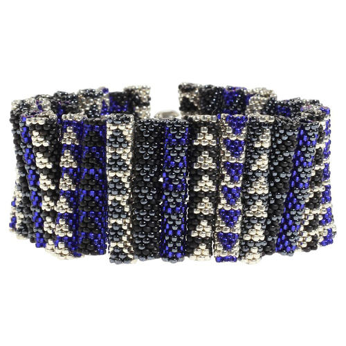 <p>Houndstooth Bracelet, by Beloved Beadwork.</p>