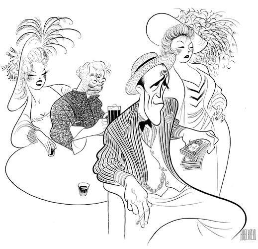 "<p>Al Hirschfeld, whose career spanned 82 years, made drawings that were often said to look more like the person they pictured than the actual person himself. ""The Line King's Library,"" the largest yet exhibition of Hirschfeld's artwork and archival material, is now on view at The New York Public Library's Donald &amp; Mary Oenslager Gallery. Here, <em>Iceman Cometh</em> with Jason Robards, 1960.</p>"