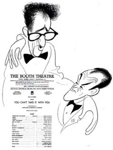 "<p>""Hirschfeld was one of these individuals that change the way we see things,"" says Leopold. ""He wasn't the best at what he did. He was the only one who did what he did."" George Kaufman and Moss Hart with program for <em>You Can't Take It With You,</em> c. 1971</p>"
