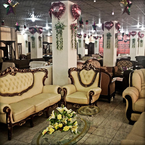 <p>A typical store in Kabul selling furniture for the booming home provisioning business that goes along with the surge in weddings.</p>