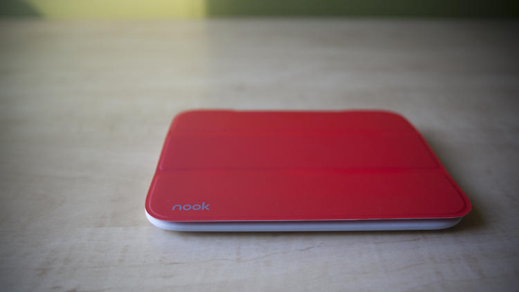 <p>The Nook e-reader in a prototype cover.</p>
