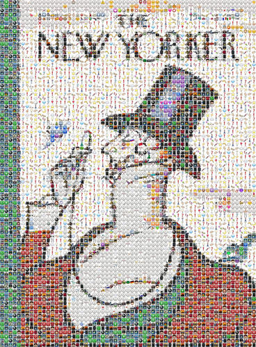 "<p>&quot;We're looking for a diverse array of interpretations and appropriations of the emoji that exist both on and offline,"" says the official call for submissions.</p>  <p>Here, Fred Benenson's all-emoji rendition of the <em>New Yorker</em>'s dandyish mascot.</p>"