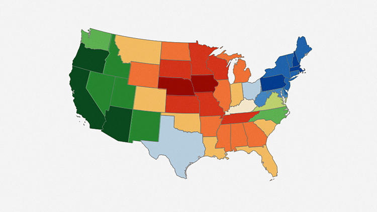<p>In just 10 questions, this map will determine exactly where you should move in the United States to <a href=&quot;http://www.fastcocreate.com/3020843/this-interactive-mood-map-reveals-where-youre-apparently-supposed-to-live-by-temperament&quot; target=&quot;_self&quot;>fit in best</a> with your neighbors.</p>
