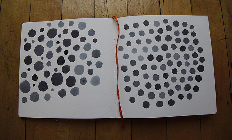 <p>The Polka Dot painter first appears in black and white on paper before morphing into color on the screen. Goodman fashioned it so that a child could think about being creative in a very basic way but also enjoy the rich experience of changing black and white to color--one of the things, the designer says, that digital media does best.</p>