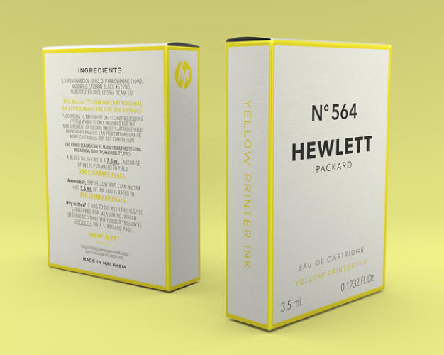 <p>The boxes highlight some of the very real controversies surrounding printer ink.</p>