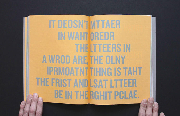 <p>To help combat the widespread misunderstanding of dyslexia, British graphic designer Sam Barclay created a book called <em>Reedeeng</em>, which uses artistic typography to visualize the experience of trying to read with this learning disability.</p>