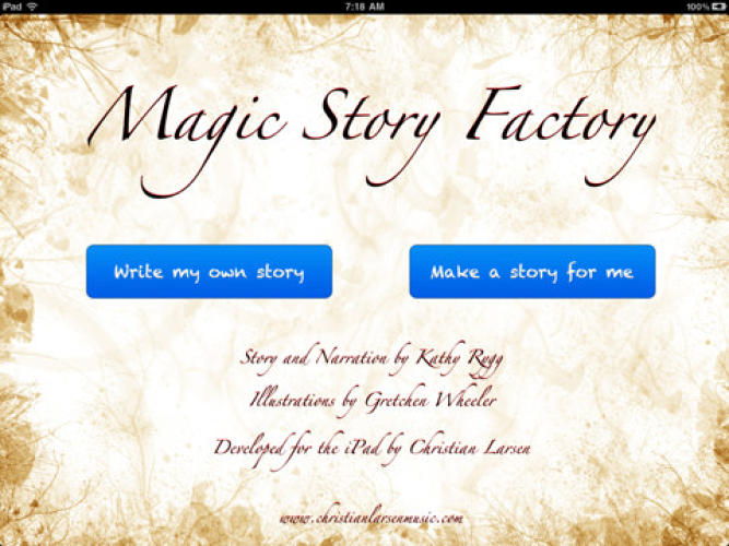 <p>From Cultivated Wit, the <a href=&quot;https://itunes.apple.com/us/app/magic-story-factory/id443403622?mt=8&quot; target=&quot;_blank&quot;>Magic Story Factory</a> is an app that transforms news articles into illustrated children's books. The idea is if parents read the same bedtime stories to their kids night after night, both parties aren't learning anything. Why not keep everyone informed and entertained at the same time?</p>
