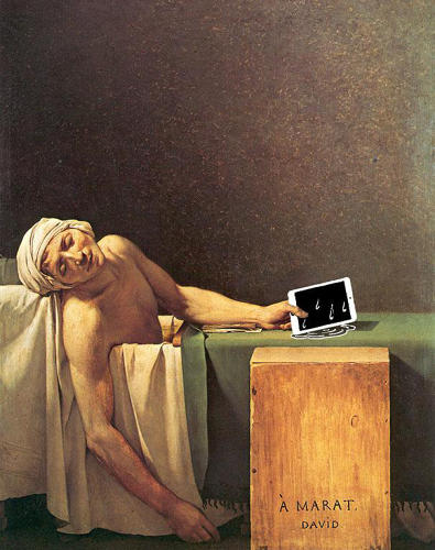 "<p>""The Death Of Marat"" by Jacques-Louis David</p>"
