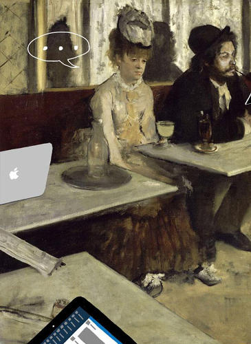 "<p>""L'absinthe"" by Edgar Degas</p>"