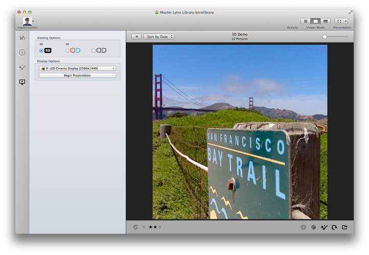 <p>The before photo: Creating a 3-D image in the desktop app.</p>