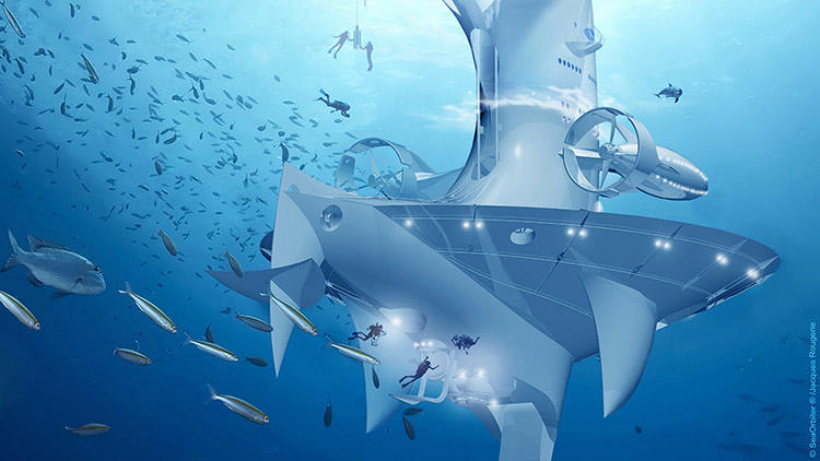 <p>The $43 million SeaOrbiter project is the result of a 30-year research and design process.</p>