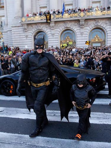<p>On November 15th, the entire city of San Francisco was transformed. The crime-fighting superhero took on tricky villains like the Riddler and the Penguin, all while cruising around in a tricked-out Lamborghini.</p>