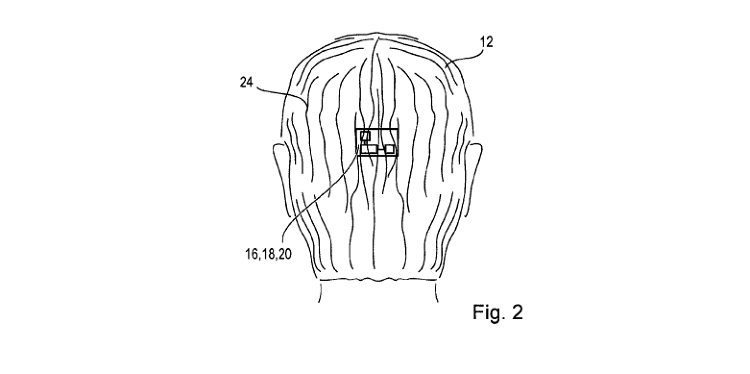 <p>With at least four actuators arranged in a cross-like pattern, users can receive vibrating feedback on specific parts of their head.</p>